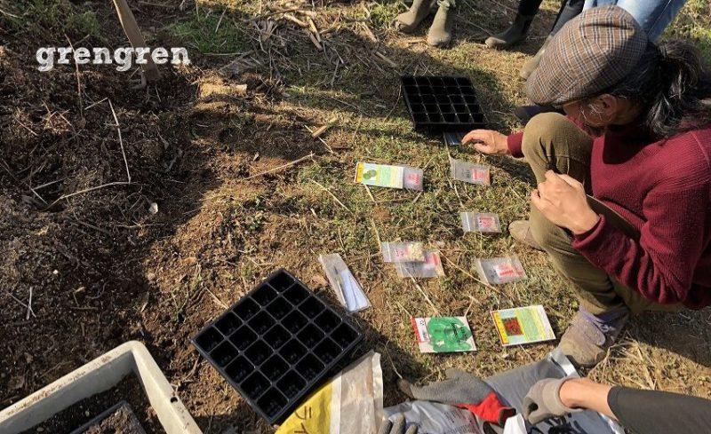 無肥料無農薬の野菜づくりのための色んな種を準備する