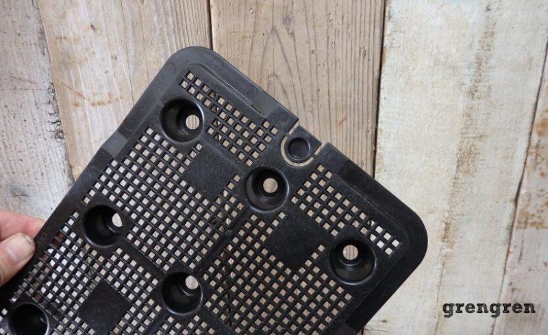 ベジタブルプランターの横穴のキャップ