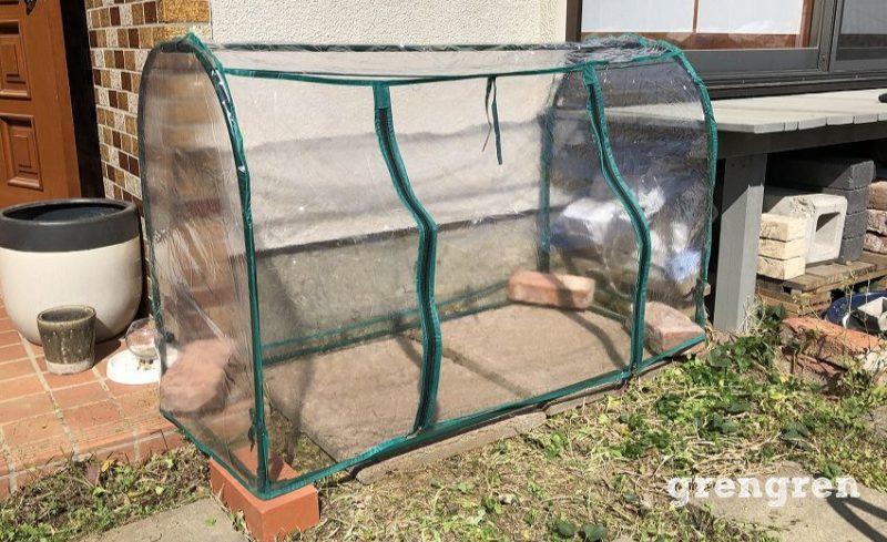 5分で完成した家庭用温室