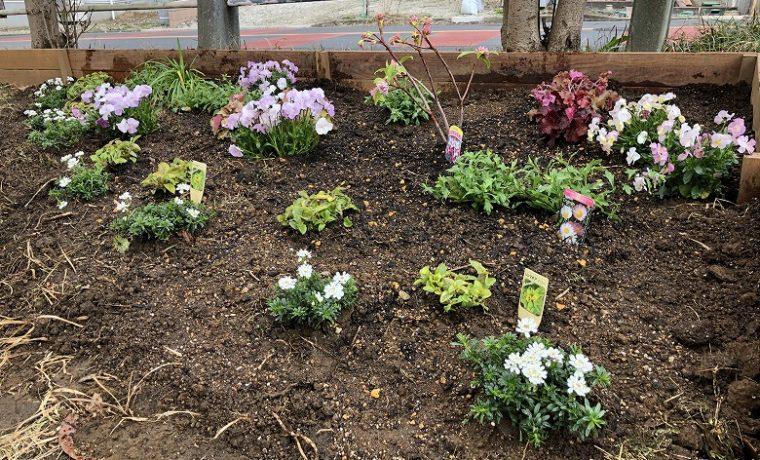地域の方々が楽しめる植栽空間