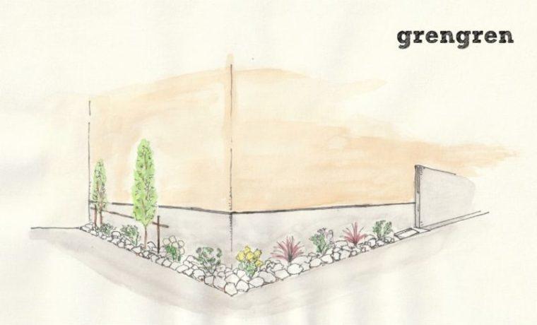 横浜市のお客さんに提案した春の植栽プラン