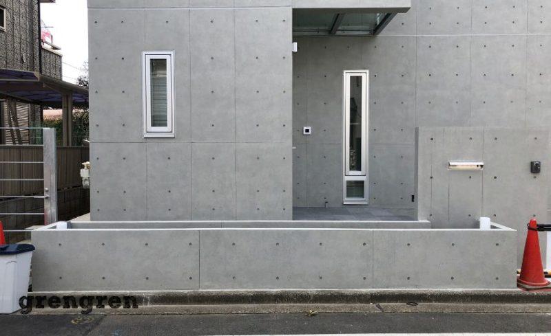 狛江市のコンクリート打ちっぱなし新築住宅