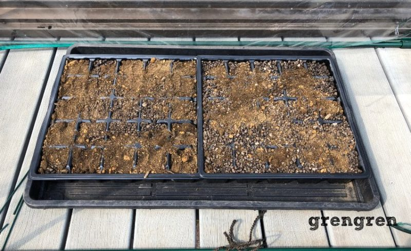 無肥料プランター家庭菜園の野菜の種まき