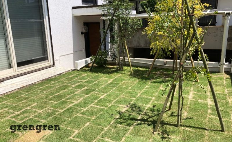 綺麗な芝生でお庭をリフォームした横浜市の個人邸