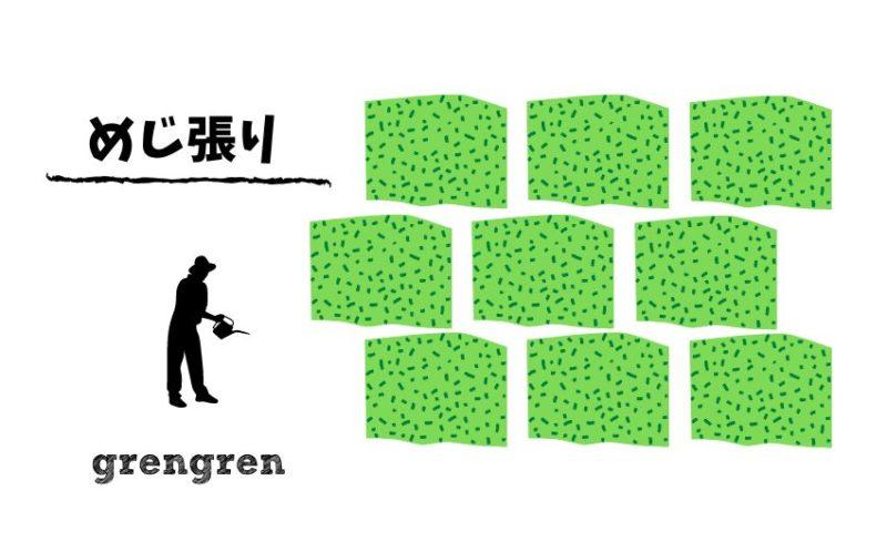 一般的な芝生の並べ方で予算を抑え早く芝生でいっぱいにする