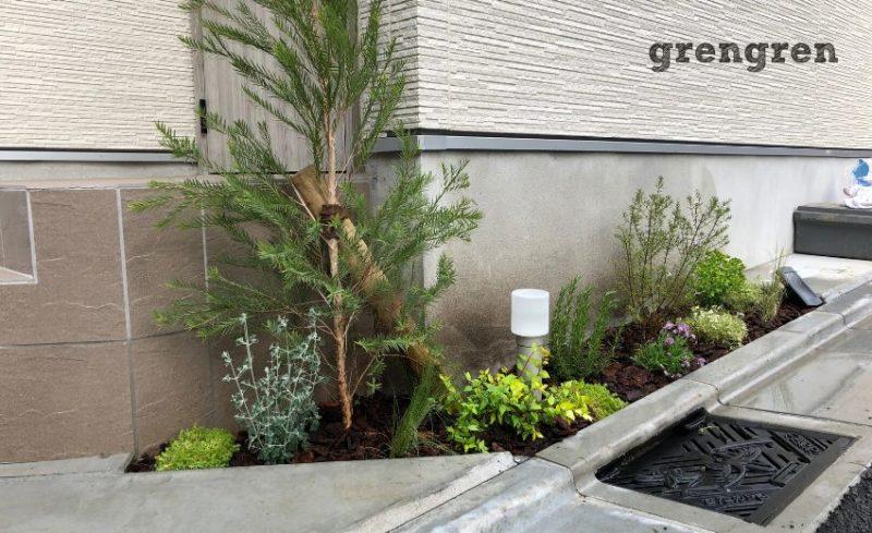 世田谷区の個人邸の小さなナチュラルガーデンの庭づくり