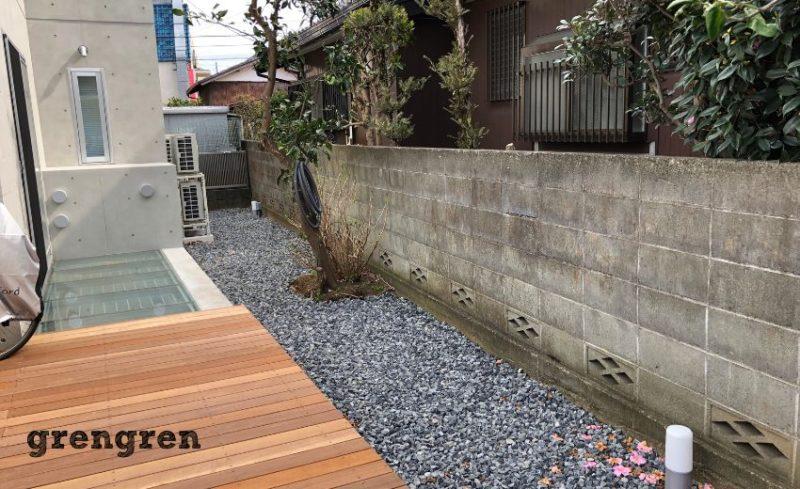 狛江市の植栽されていない新築住宅