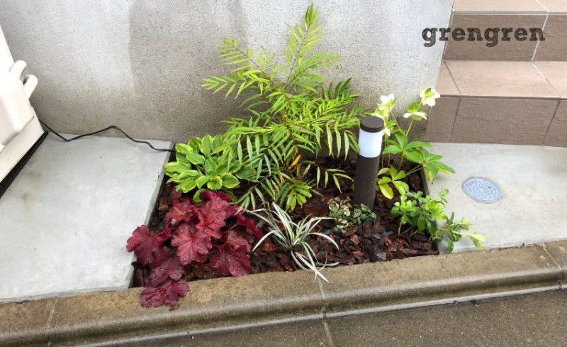 世田谷区の個人邸の北側花壇
