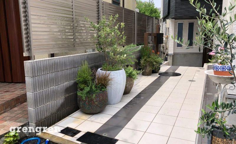 完成した港区個人邸の造園会社ぐりんぐりんの植栽