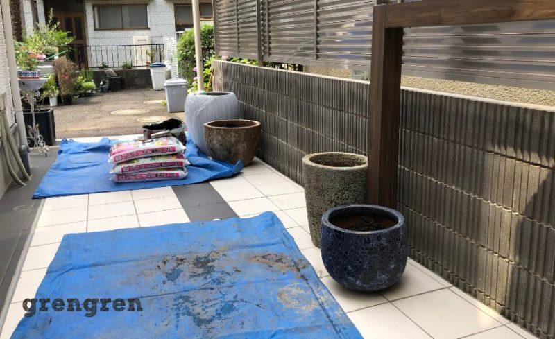 彩り豊かなプランターでつくるエントランス植栽工事