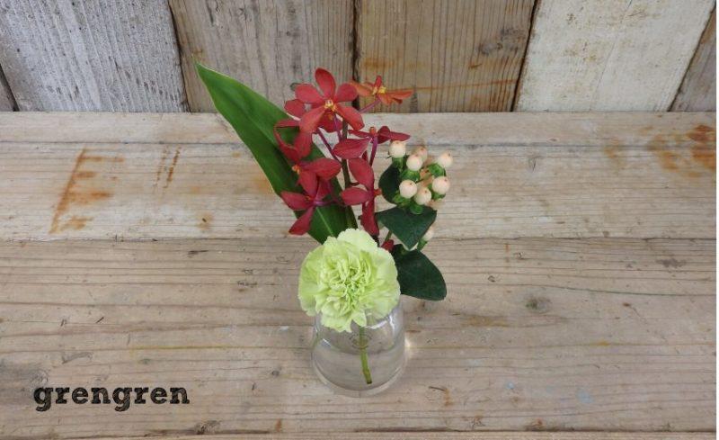 奥行きを持たせてブルーミーライフのレギュラープランのお花を楽しむ