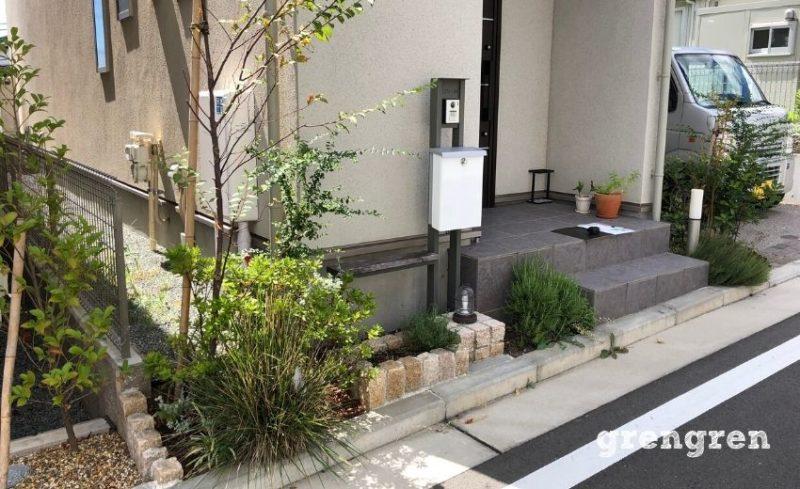 横浜市の新しい住宅地の建売り個人邸施工前のお庭の状態