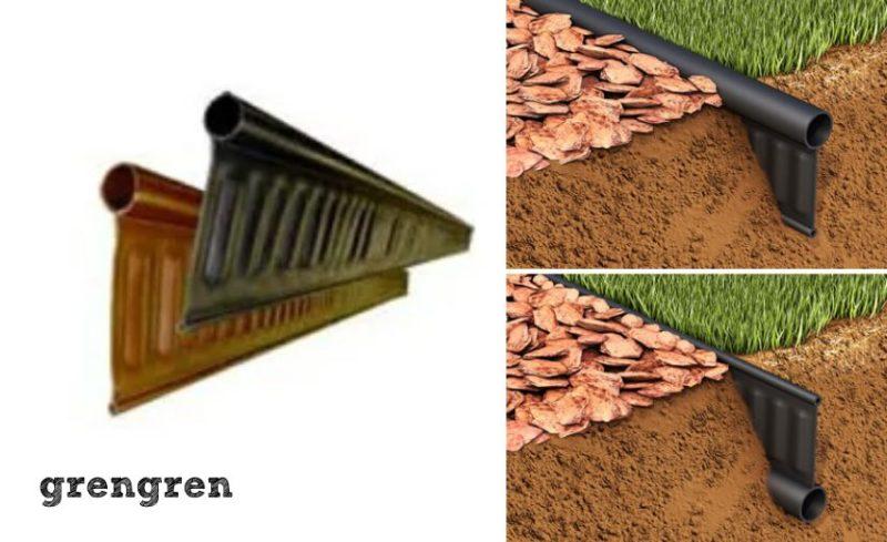 花壇の仕切りや植物の根っこの侵入をふせぐ仕切り材