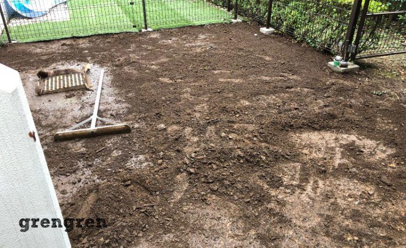 人工芝を撤去した世田谷区のガーデンリフォーム工事