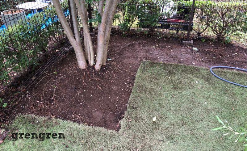 ガーデンリフォームのための解体撤去!まずは砂利を撤去する