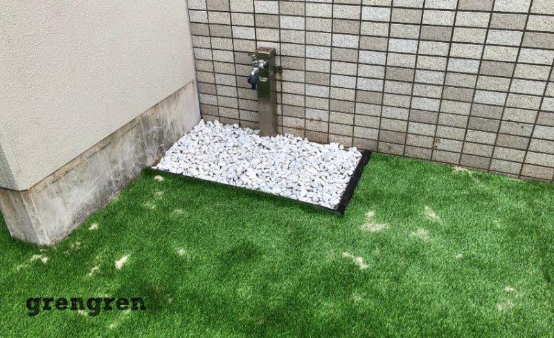 世田谷区のマンション専用庭の水道周りの施工
