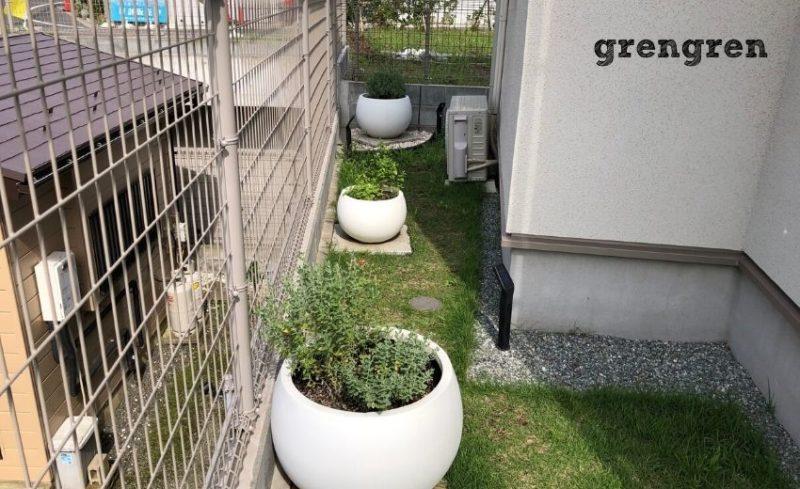 自然石のステップを施工する予定の横浜市のお庭