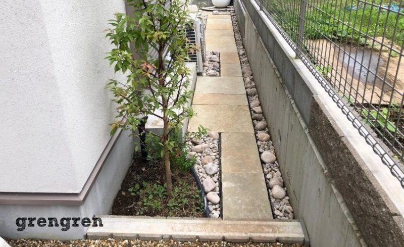 スコティッシュぺブルをつかった横浜市のナチュラルガーデンの庭づくり