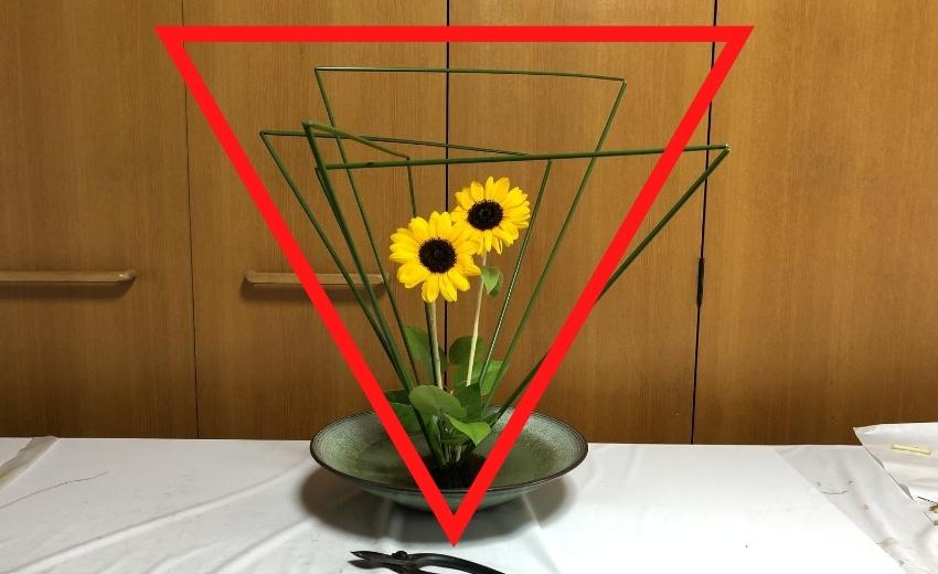 フトイを使った池坊自由花の世界観を考える