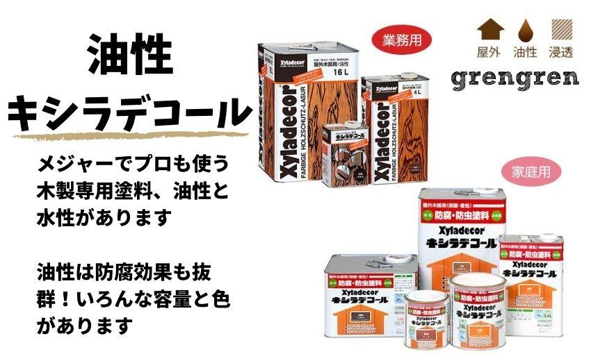 油性キシラデコールの発売されているすべての商品紹介