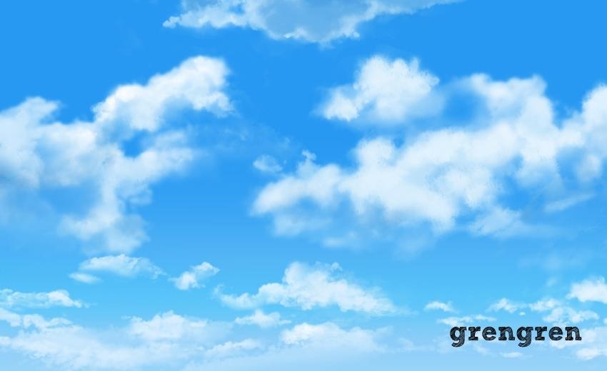 港区に広がる秋の青空
