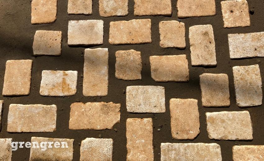 杉並区のナチュラルガーデンの庭の自然石の様子