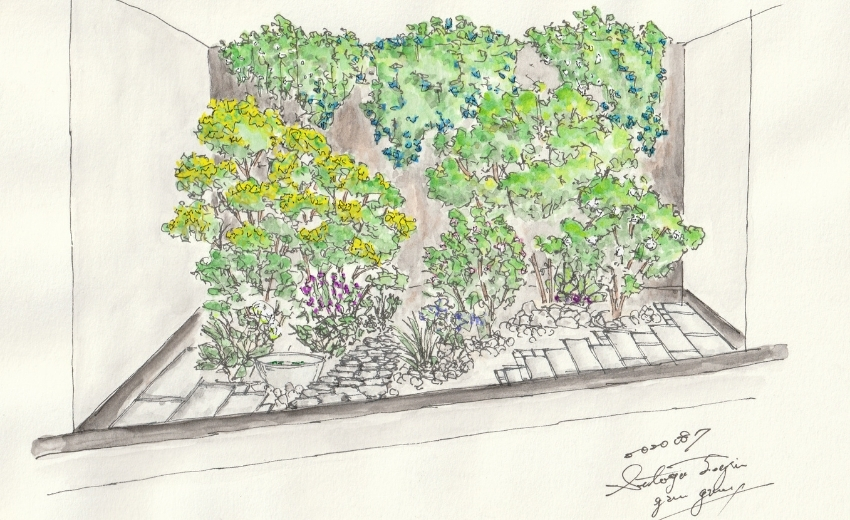 造園会社ぐりんぐりんが提案したナチュラルガーデンの庭