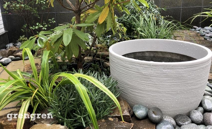メダカが入る予定の水鉢