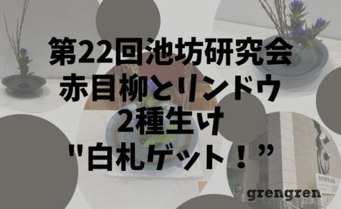 池坊東京支部の研究会で白札ゲット