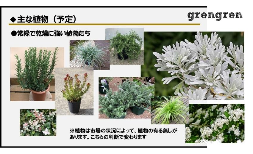 狛江市の新築住宅の植栽のためのプランのいちページ