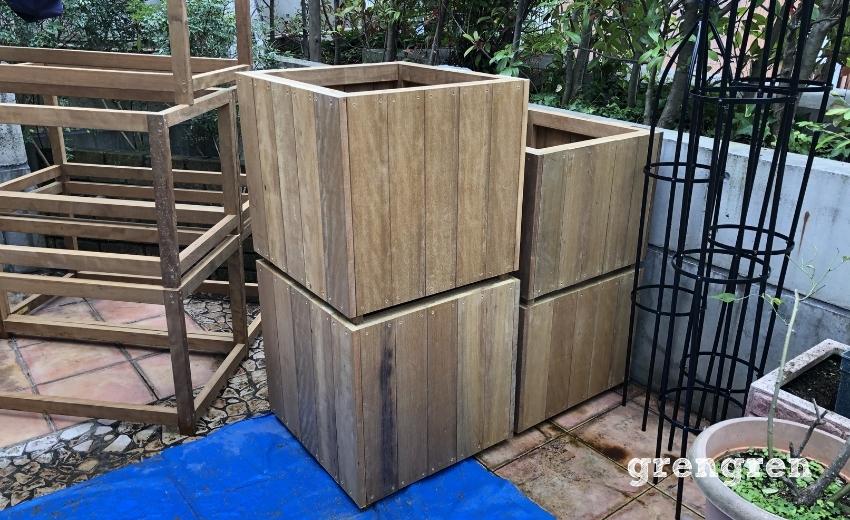 世田谷ローズガーデンの鉢植えカバーの完成したもの