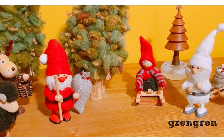 クリスマスレシピを作っている待ち時間に設置したクリスマスの飾りつけ