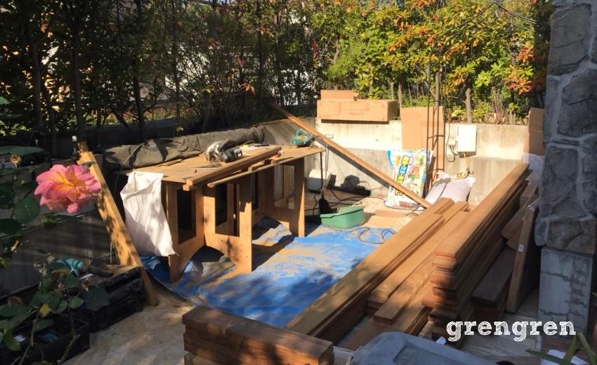木材を加工するための作業場