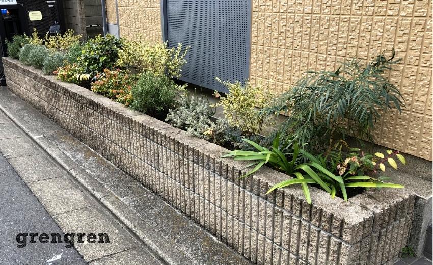 メンテナンスが終わった世田谷区のマンション花壇