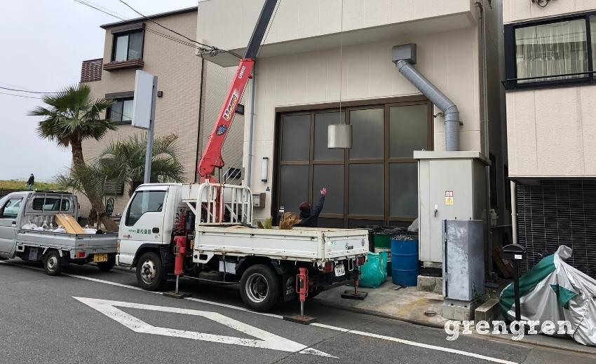 大田区の不要プランターの搬出作業