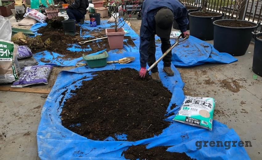 土を改良して再利用する