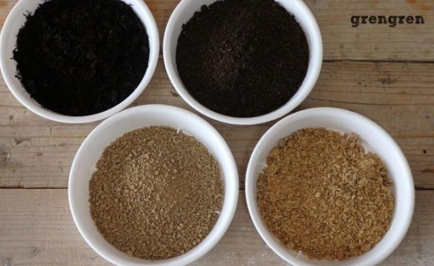 土壌改良の資材を使って植え替え作業