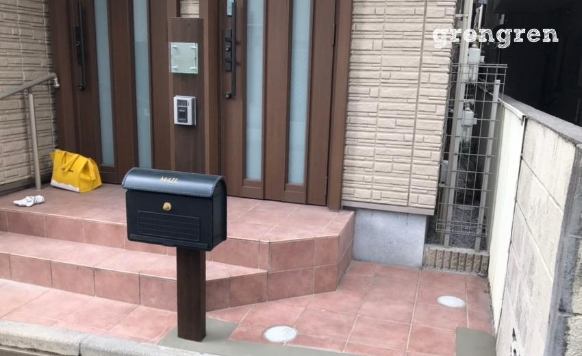自転車が置ける広さが出来た豊島区の個人邸の玄関前