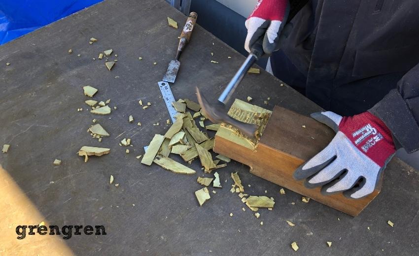 ウッドデッキの支柱の加工の仕方