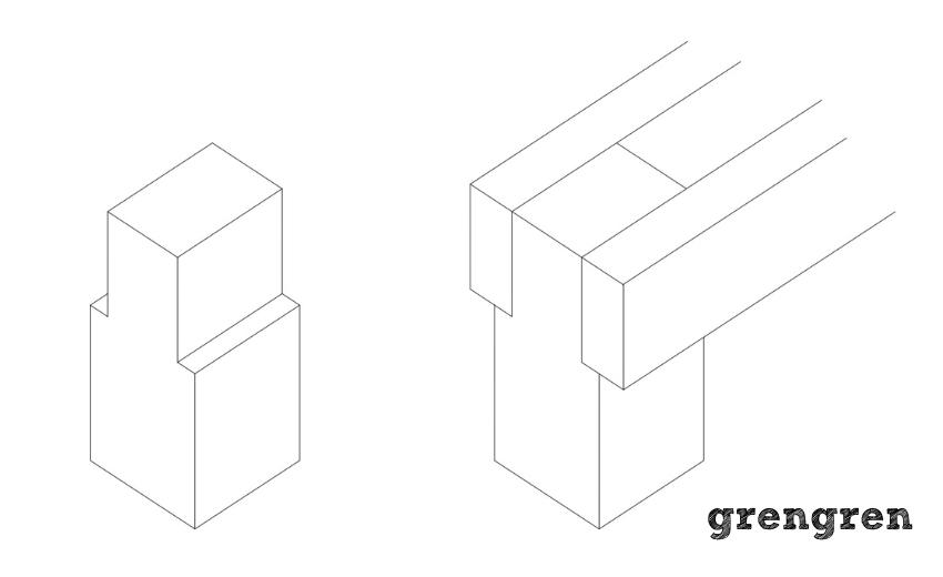 ウッドデッキの支柱と根太の関係