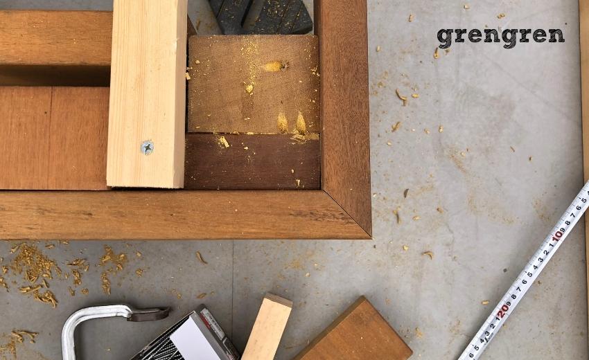 厚みがある幕板を取り付けしたウッドデッキの施工