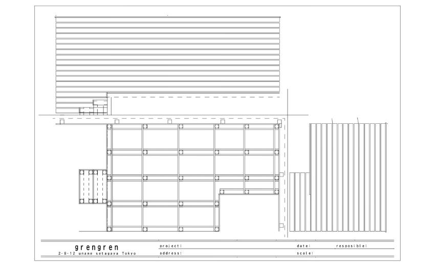 狛江市のお客さんのためにつくったウッドデッキとフェンスの図面