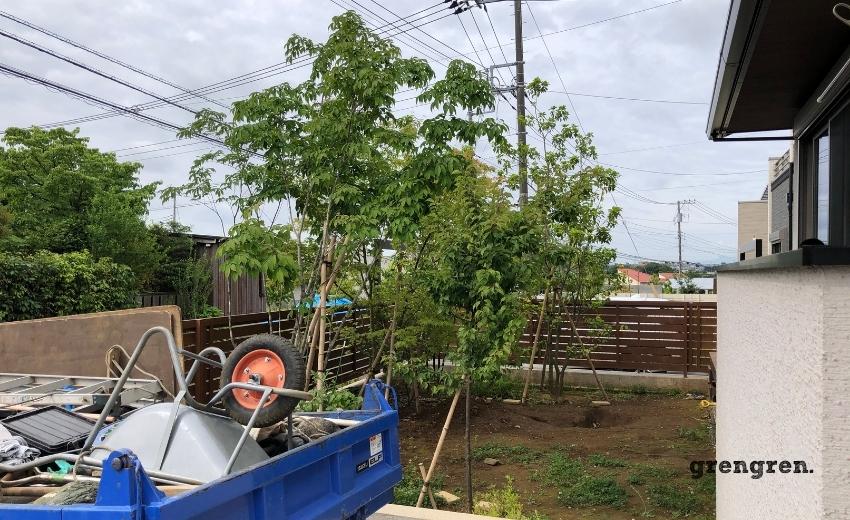 町田市のお庭づくりの施工前画像
