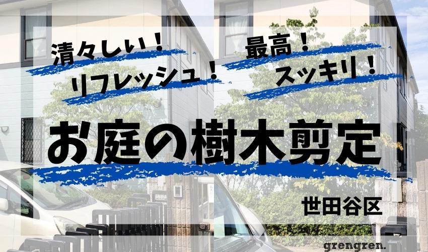 世田谷区の個人邸での樹木剪定と草刈り
